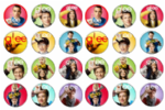 24 x Glee Rice Wafer Paper Cake Top Toppers NEW